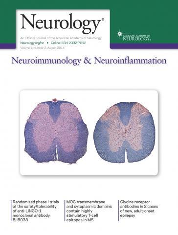 Neurology - Neuroimmunology Neuroinflammation: 1 (2)