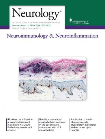 Neurology - Neuroimmunology Neuroinflammation: 1 (4)