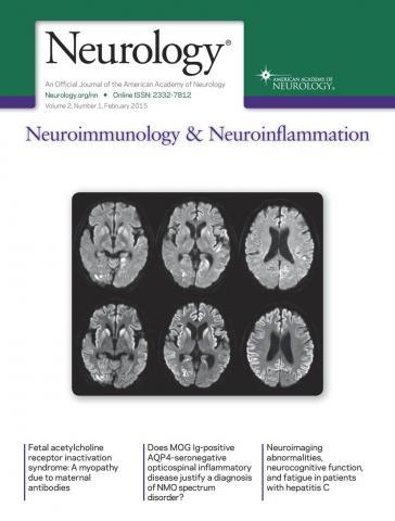 Neurology - Neuroimmunology Neuroinflammation: 2 (1)