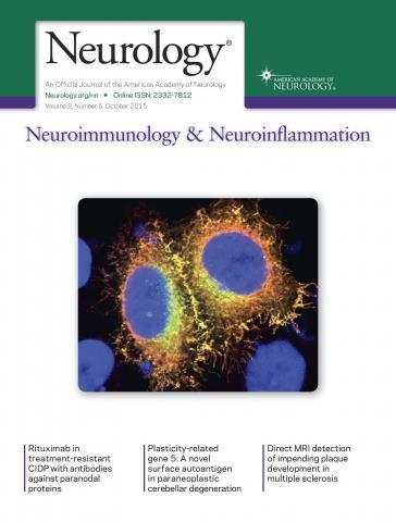 Neurology - Neuroimmunology Neuroinflammation: 2 (5)