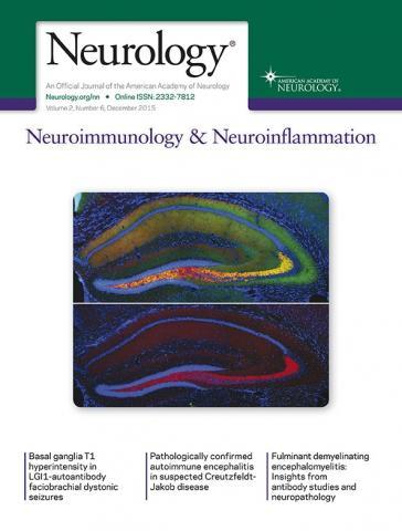 Neurology - Neuroimmunology Neuroinflammation: 2 (6)