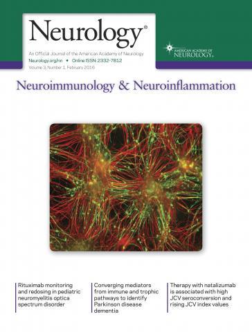 Neurology - Neuroimmunology Neuroinflammation: 3 (1)