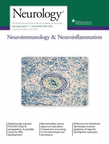 Neurology - Neuroimmunology Neuroinflammation: 3 (3)
