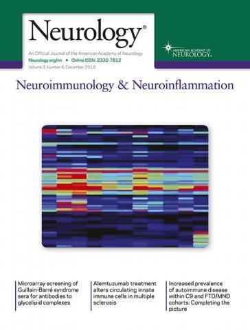 Neurology - Neuroimmunology Neuroinflammation: 3 (6)
