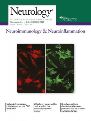 Neurology - Neuroimmunology Neuroinflammation: 4 (1)