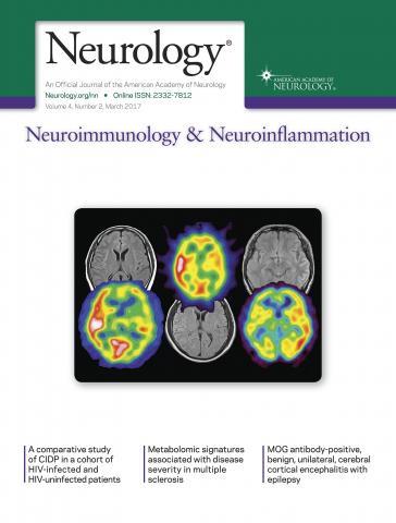 Neurology - Neuroimmunology Neuroinflammation: 4 (2)