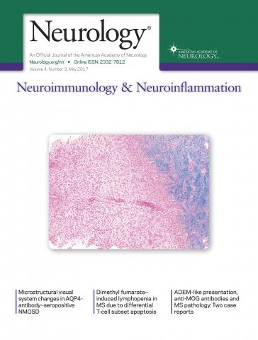 Neurology - Neuroimmunology Neuroinflammation: 4 (3)
