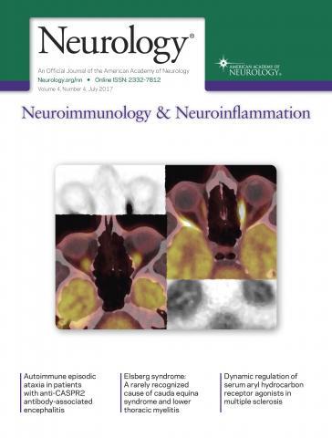Neurology - Neuroimmunology Neuroinflammation: 4 (4)