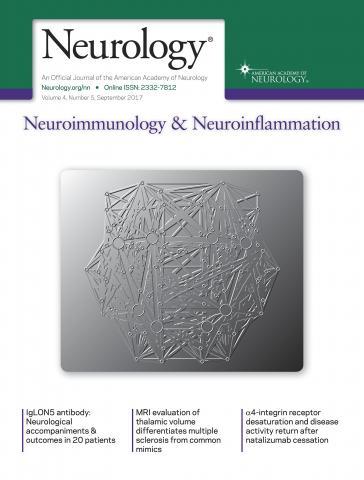 Neurology - Neuroimmunology Neuroinflammation: 4 (5)