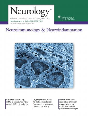 Neurology - Neuroimmunology Neuroinflammation: 4 (6)