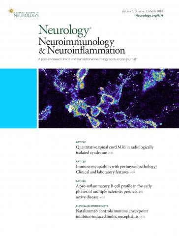 Neurology - Neuroimmunology Neuroinflammation: 5 (2)