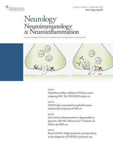 Neurology - Neuroimmunology Neuroinflammation: 5 (5)