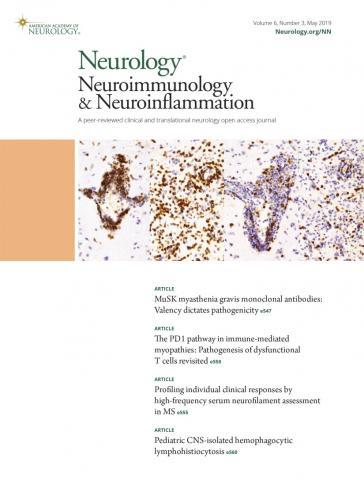 Neurology - Neuroimmunology Neuroinflammation: 6 (3)