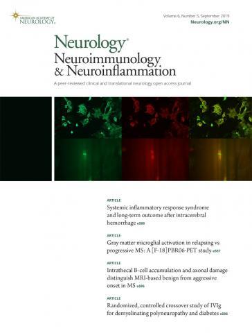 Neurology - Neuroimmunology Neuroinflammation: 6 (5)