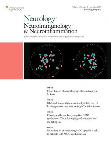 Neurology - Neuroimmunology Neuroinflammation: 6 (6)