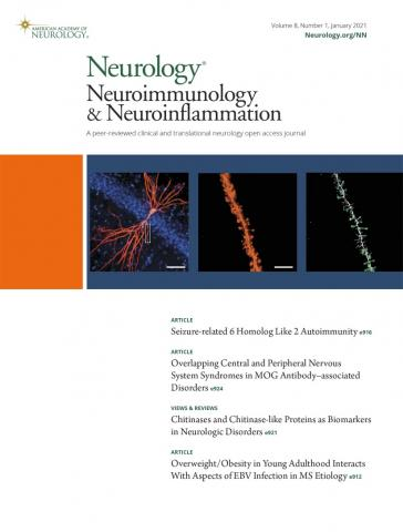 Neurology - Neuroimmunology Neuroinflammation: 8 (1)