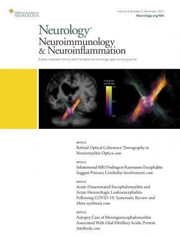 Neurology - Neuroimmunology Neuroinflammation: 8 (6)