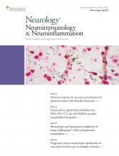 Neurology - Neuroimmunology Neuroinflammation: 5 (1)