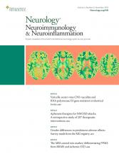 Neurology - Neuroimmunology Neuroinflammation: 5 (6)