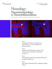 Neurology - Neuroimmunology Neuroinflammation: 6 (4)