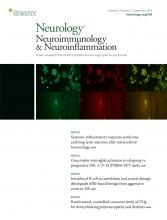 Neurology - Neuroimmunology Neuroinflammation: 6 (5)