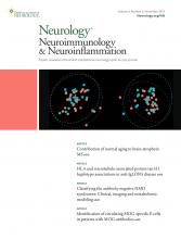 Neurology - Neuroimmunology Neuroinflammation: 6 (6)