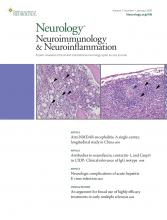 Neurology - Neuroimmunology Neuroinflammation: 7 (1)