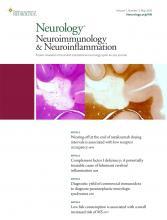 Neurology - Neuroimmunology Neuroinflammation: 7 (3)