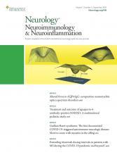 Neurology - Neuroimmunology Neuroinflammation: 7 (5)