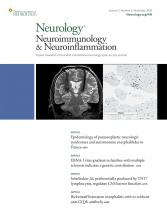 Neurology - Neuroimmunology Neuroinflammation: 7 (6)